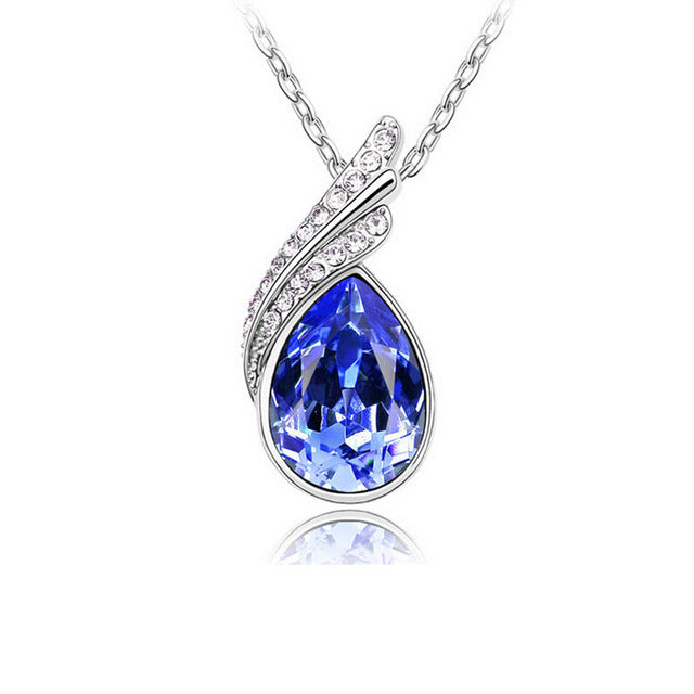 Crystal Water Droplet Necklace