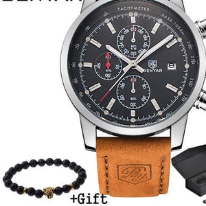 Fashion Leather Chronograph Watch