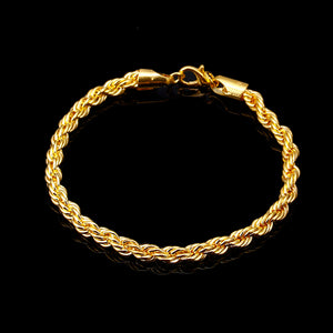 Gold Plated rope Bracelet