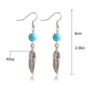 Leaver Eardrop Earrings