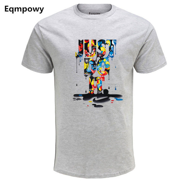 2017 New Fashion 3D cartoon T-shirt Brand Clothing Hip Hop Letter Print Men T Shirt Short Sleeve Anime High Quality Men clothing