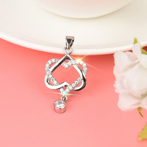 Double Diamond Heart Pendant