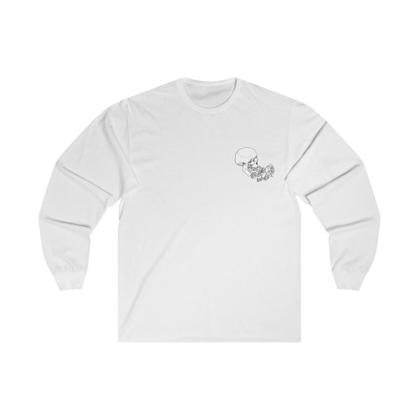 Rose Skull (B/W) - Long Sleeve