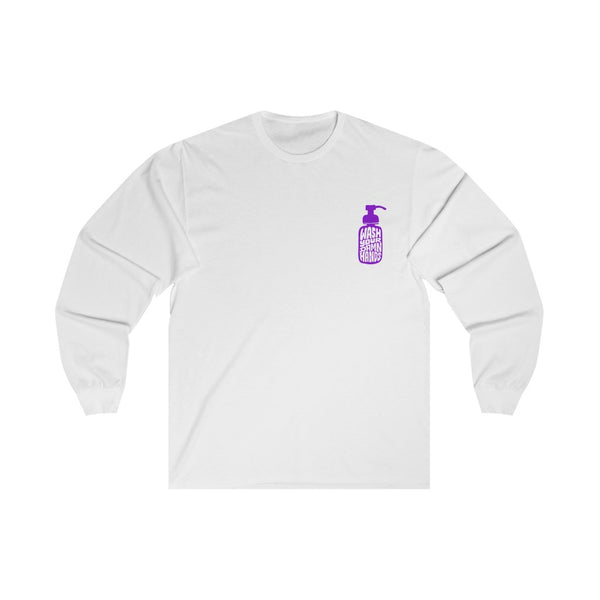 Wash Your Damn Hands (Purple) - Long Sleeve