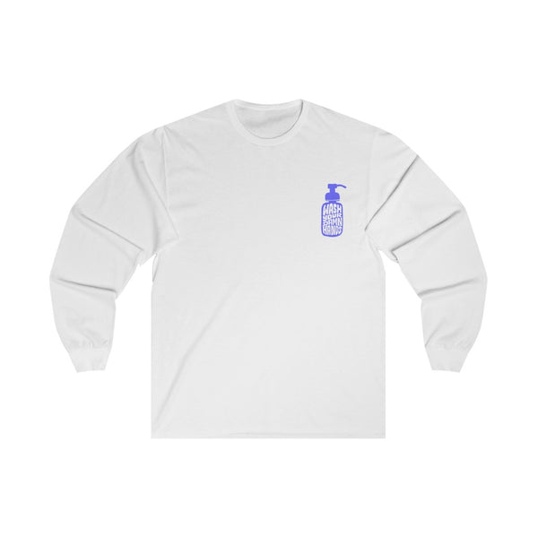 Wash Your Damn Hands (Blue) - Long Sleeve