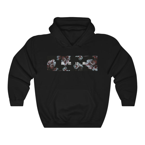 "Red and White - ""Nature is Beauty"" - Hoodie"