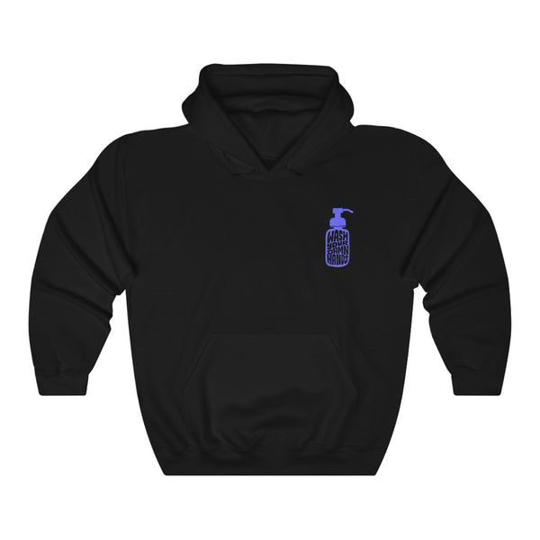 Wash Your Damn Hands (Blue) - Hoodie