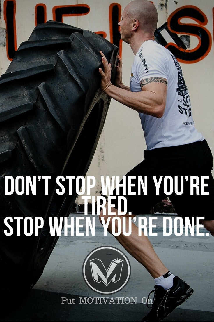 Stop when you are done