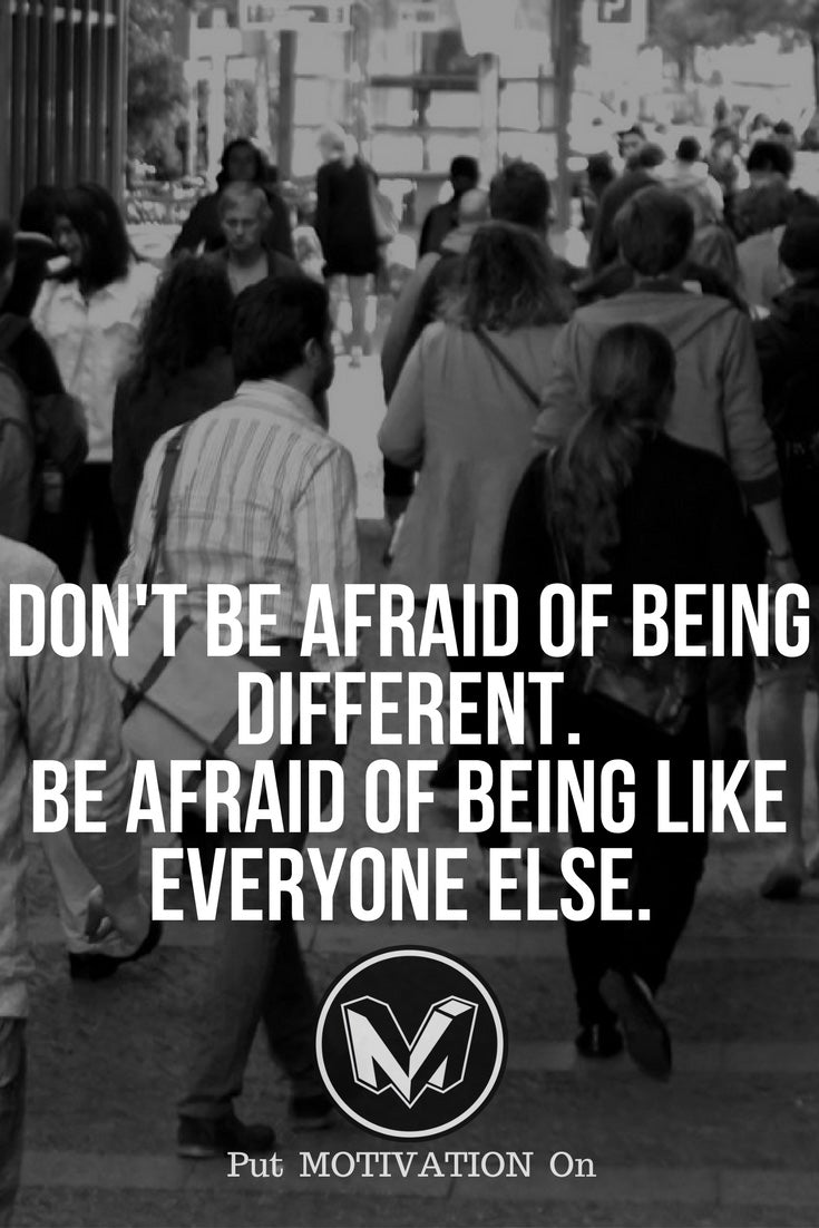 Don't be like everyone else