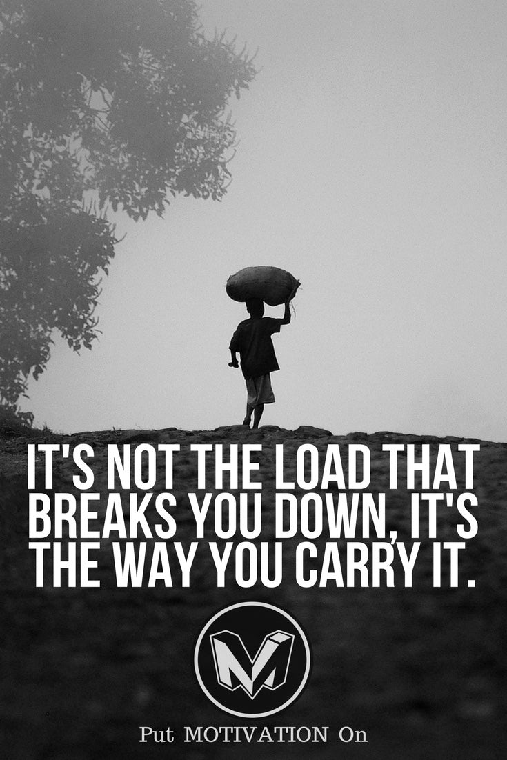 It is the way you carry it