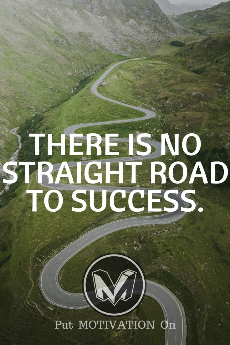 There is no straight road