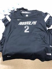 Black Game Jersey with White Patches