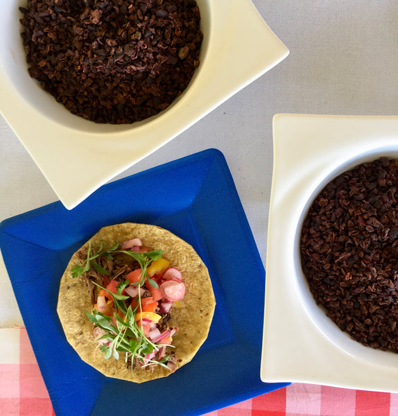 Summer Pork Tacos with Cacao Nibs (recipe included)