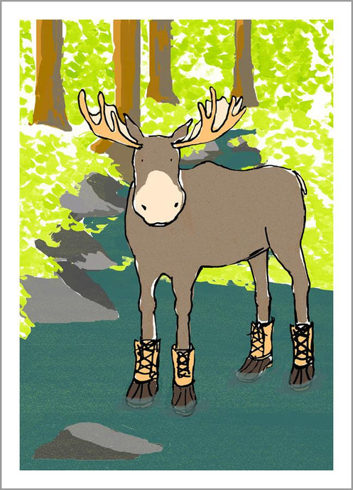 Moose with Boots Cards