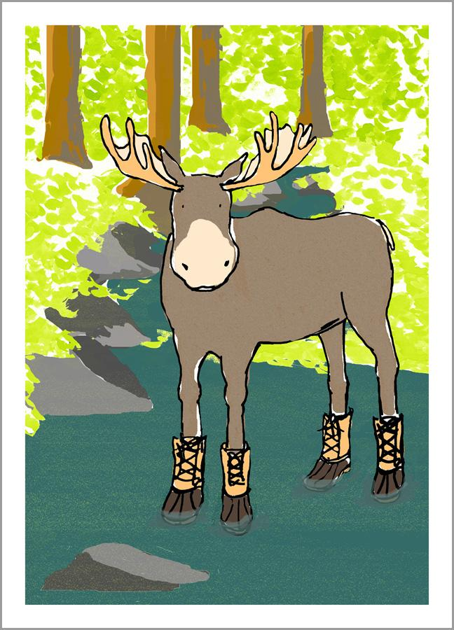 Moose with Boots
