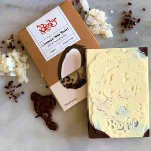 Coconut Nib Swirl Chocolate Bar