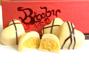 Passion Fruit Heart Bon Bon