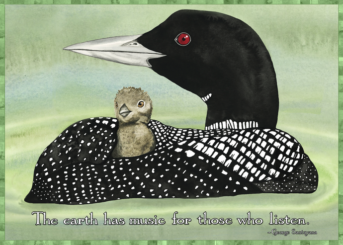 Loon and Baby Card