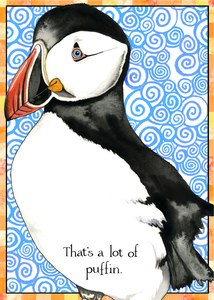 Puffin Birthday Card