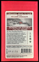 Organic Dominican Republic 70% Dark Chocolate Bar