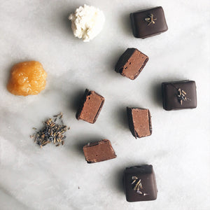 Goat Cheese, Lavender and Honey Bon Bons