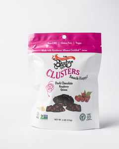 Dark Chocolate + Raspberry + Quinoa Clusters