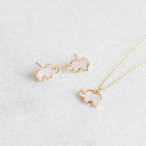 MOP Elephant Necklace