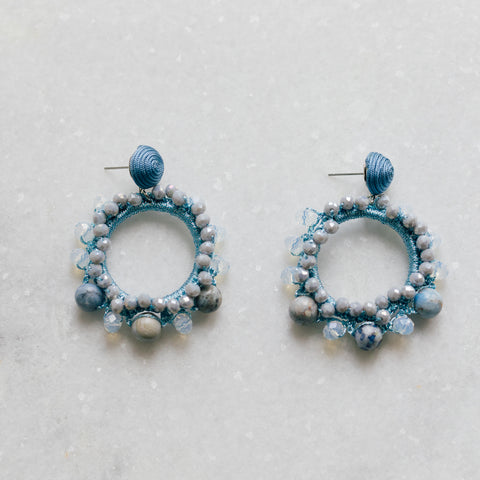 Blue Beaded Drops