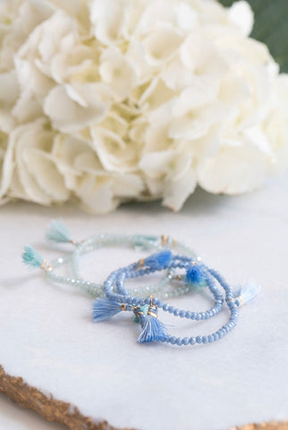 Small Beaded Bracelet With Tassels