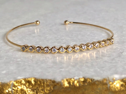 Diamond(ish) Gold Cuff