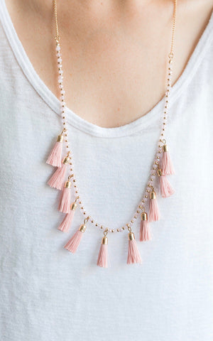 Pink Tassel With Beads