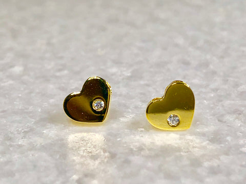 Gold Dipped Hearts With Diamond