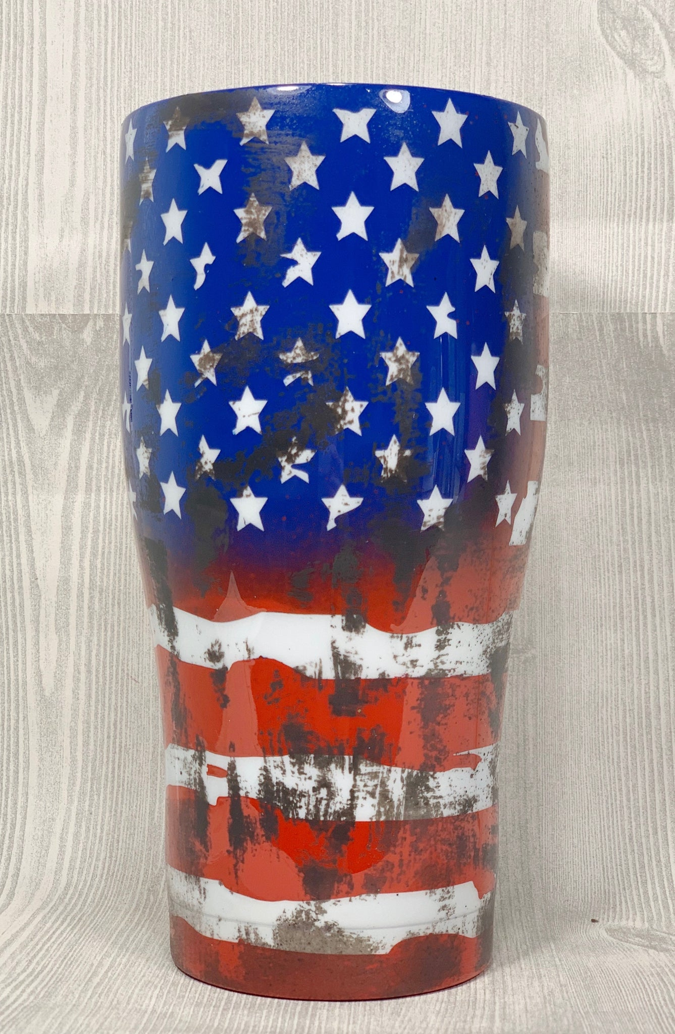 Distressed Flag Tumbler Cup