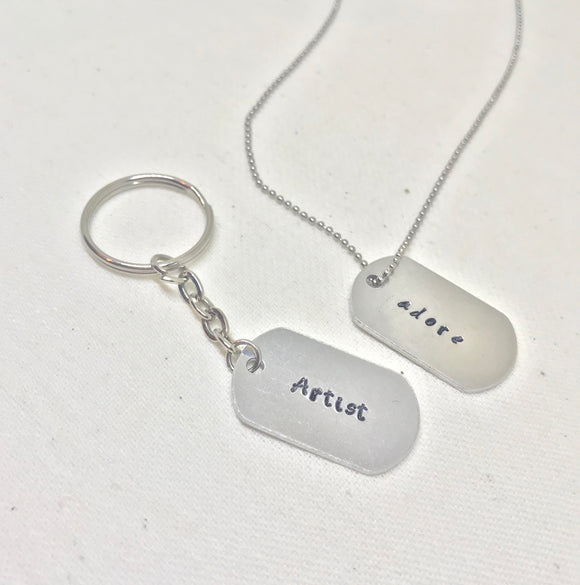 Dog Tag Necklace / Keychain