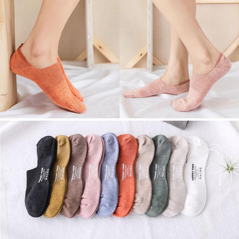10 pairs solid color liner socks
