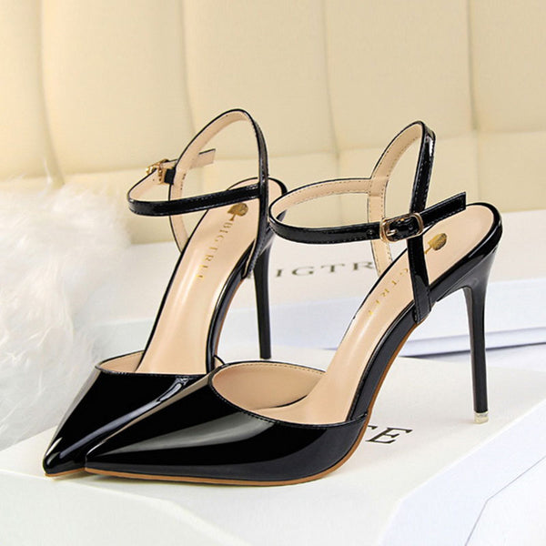 Pointed high heeled sandals