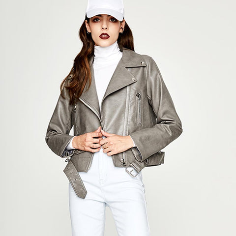 Zipper leather jackets - Fancyever