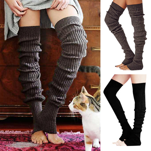 3 pairs striped thigh high loose leg sleeves
