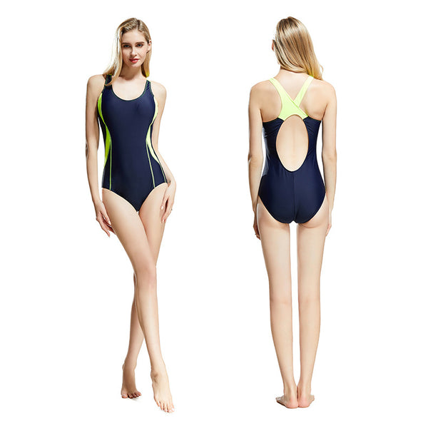 Scoop neck backless swimsuits - Fancyever