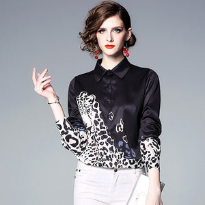 Black and white print blouses - Fancyever