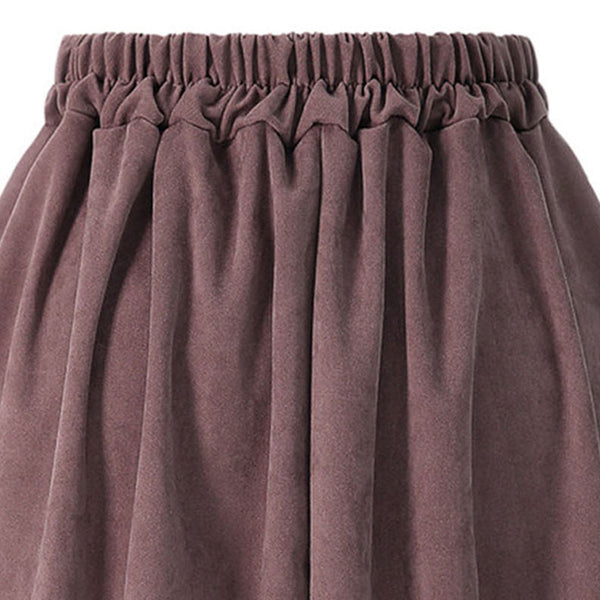 High waisted single-breasted hem skirts - Fancyever