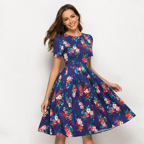 Floral vintage a-line cocktail dresses