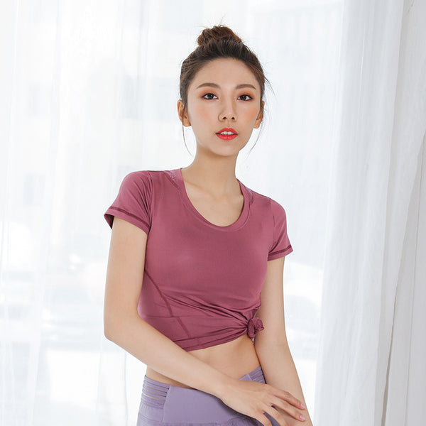 Breathable stretch mesh active tops