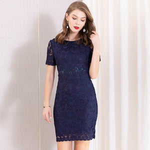 Elegant embroidered bodycon plus size dresses