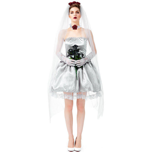 Halloween ghostly bride costumes