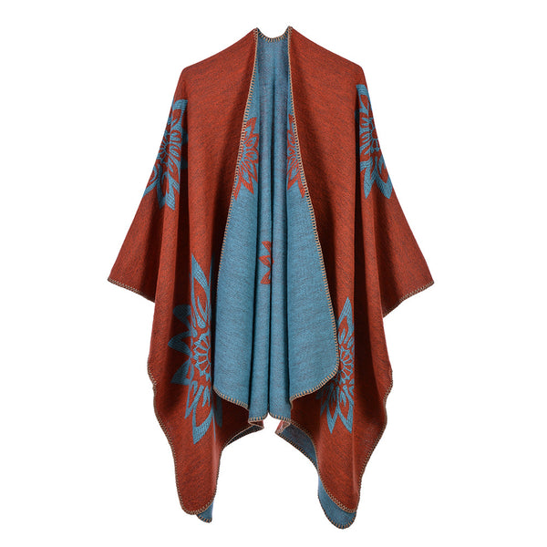 Orange elegant blanket scarves shawls - Fancyever
