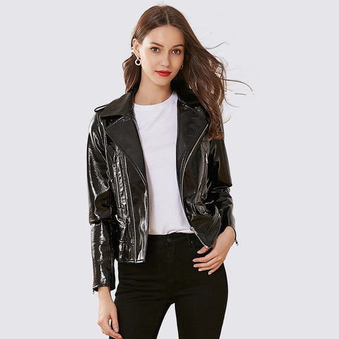 Shine moto biker faux lether jackets