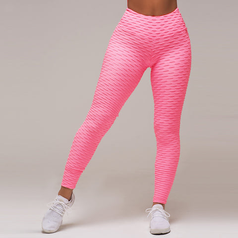 Textured high waisted compression leggings