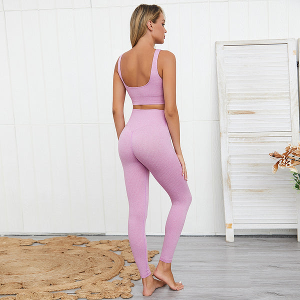 Solid color scoop neck tracksuits