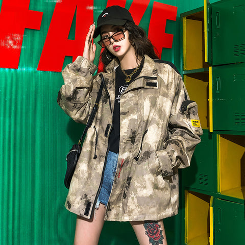 Camouflage military lapel jackets - Fancyever